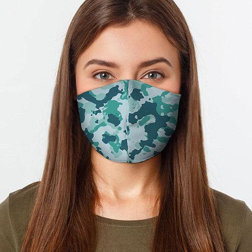 Teal Camo Face Cover