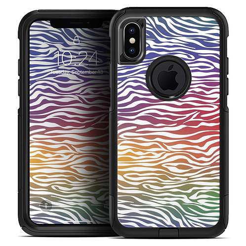 Colorful Vector Zebra Animal Print - Skin Kit for the iPhone OtterBox