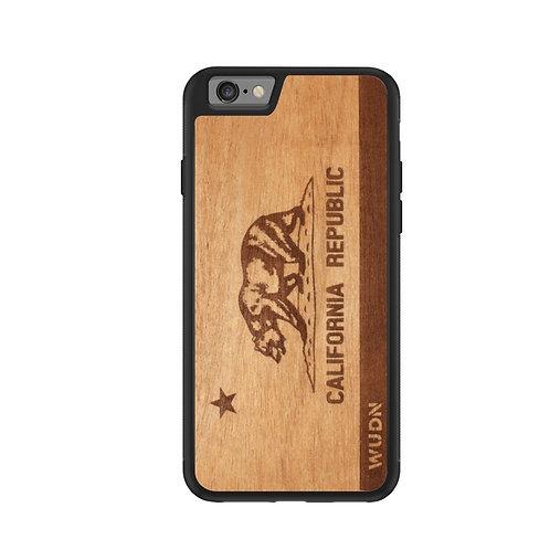 Slim Wooden Phone Case   California Republic
