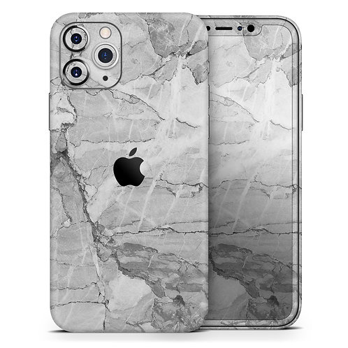 Gray Slate Marble - Skin-Kit compatible with the Apple iPhone 12, 12