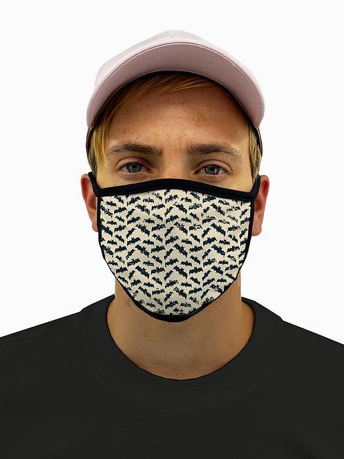 Bats Pattern Mask with Filter Pocket