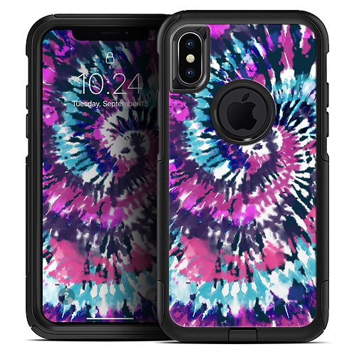 Spiral Tie Dye V3 - Skin Kit for the iPhone OtterBox Cases