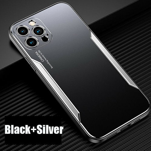 Blade series Metal Case For iPhone 11 Pro Max Black Silver