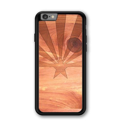 Slim Wooden Phone Case (Arizona State Flag in Aromatic Cedar)