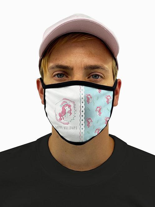Unicorn Holidays Mask with Filter Pocket