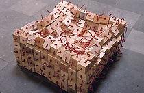 3 dimensionaal weefsel 2 / 100 x 100 x 50 cm / mixed media / 1978