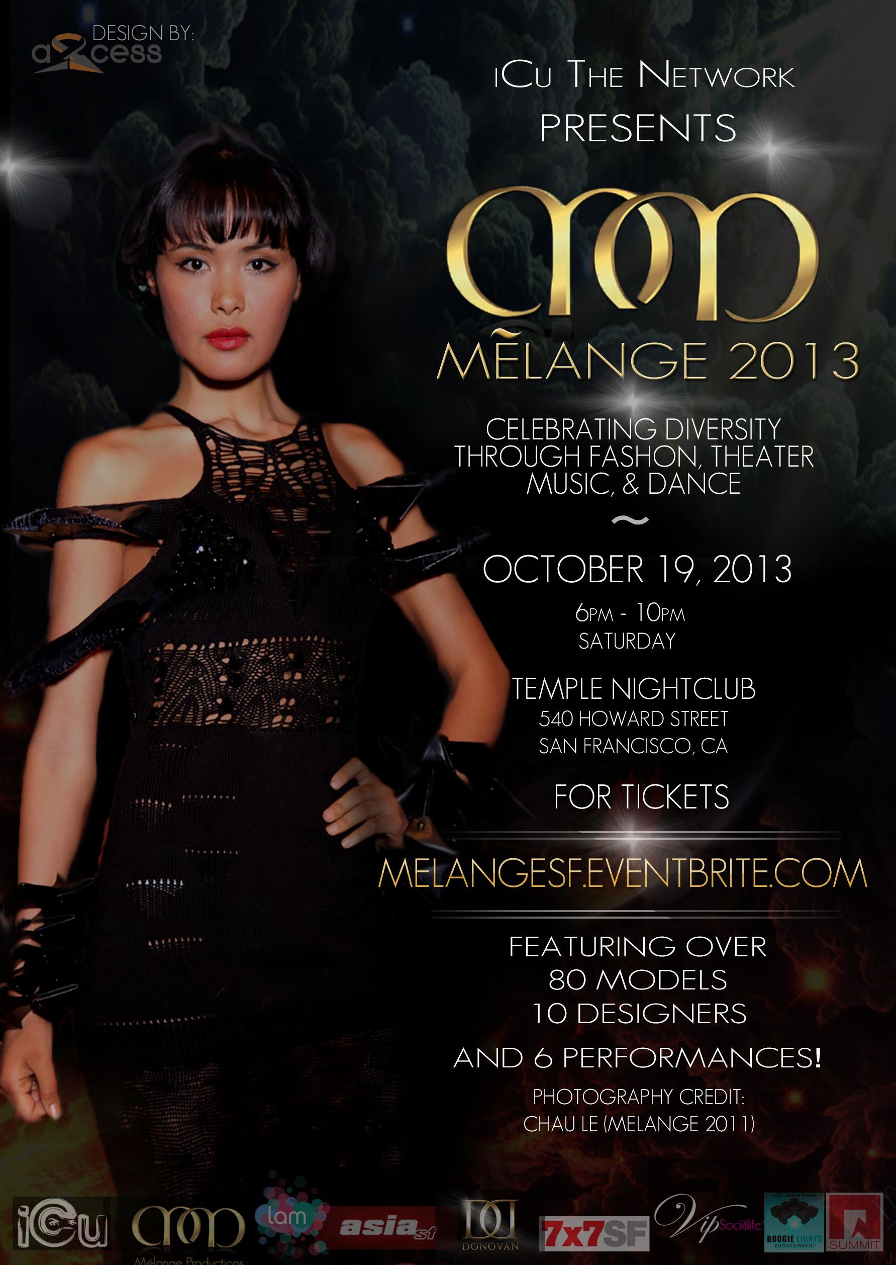 Flyer for Melange 2014
