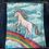Thumbnail: Rainbow Unicorn Hand Painted Denim Jacket Girl's size Medium