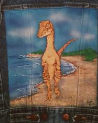 Velociraptor on the Beach