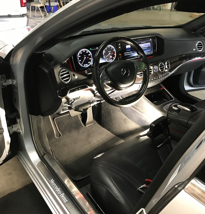 MPS Monarch Hand Control installed in a Mercedes S 550.