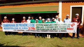 """CRV Industrial realiza """"Campanha de Prevenção de Acidentes com as Mãos"""""""