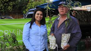 CRV Industrial doa mudas de árvores para a comunidade...
