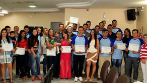 "Encerrado o curso de ""Mecânica Industrial"", da parceria CRV Industrial/SENAI..."