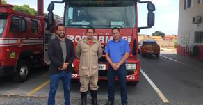 Representantes da Usina Uruaçu visitam Corpo de Bombeiros...