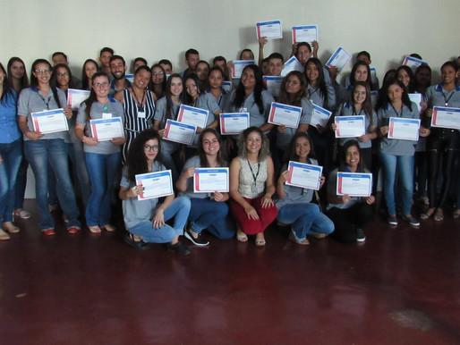 CRV Industrial entrega certificado a jovens participantes do Programa Jovem Aprendiz...