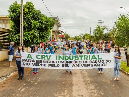 CRV Industrial participa de Desfile Cívico, em comemoração ao 66º aniversário de Carmo do Rio Verde.