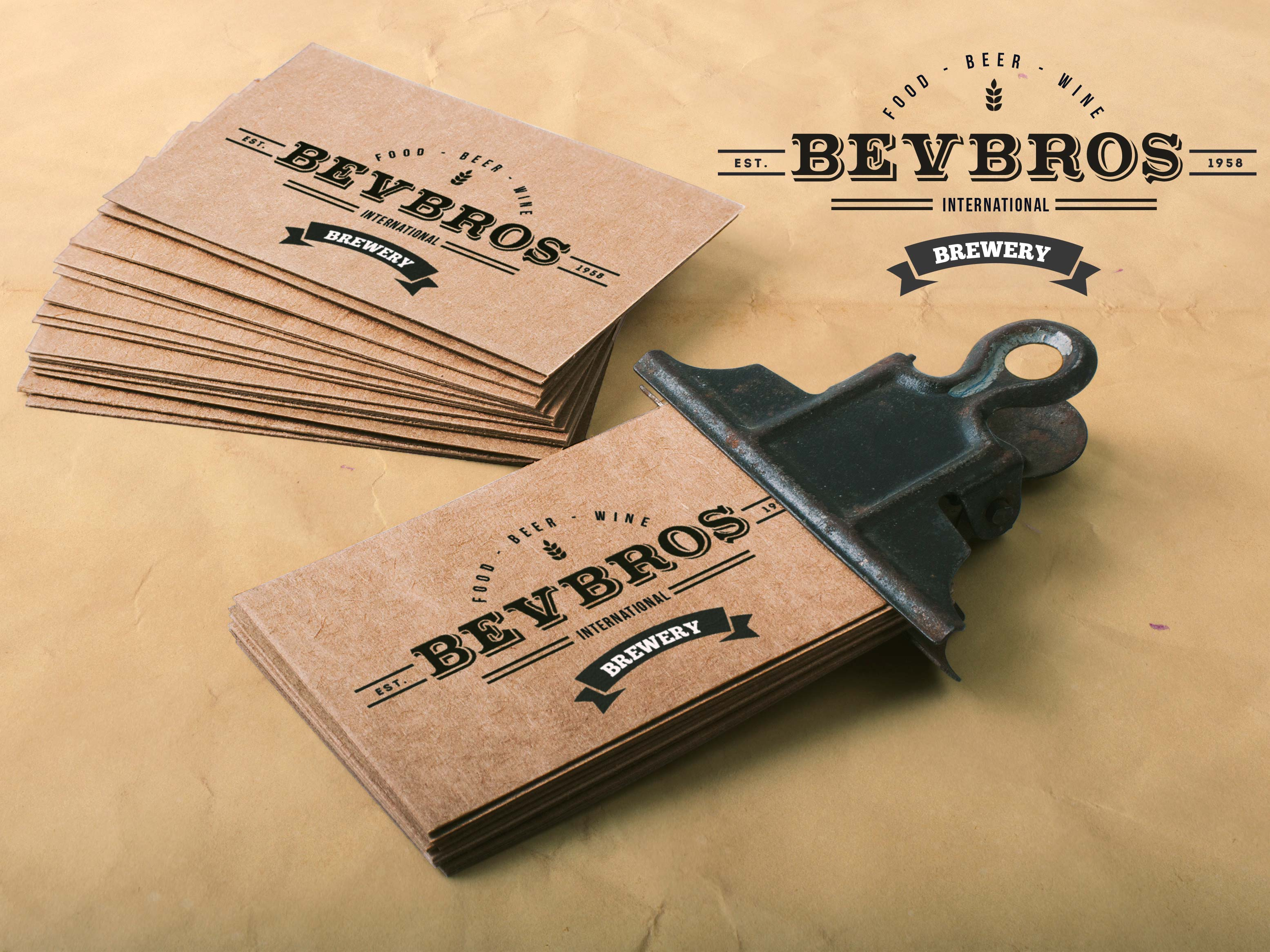 Bevbros mock business card