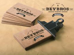 Bevbros mock business card