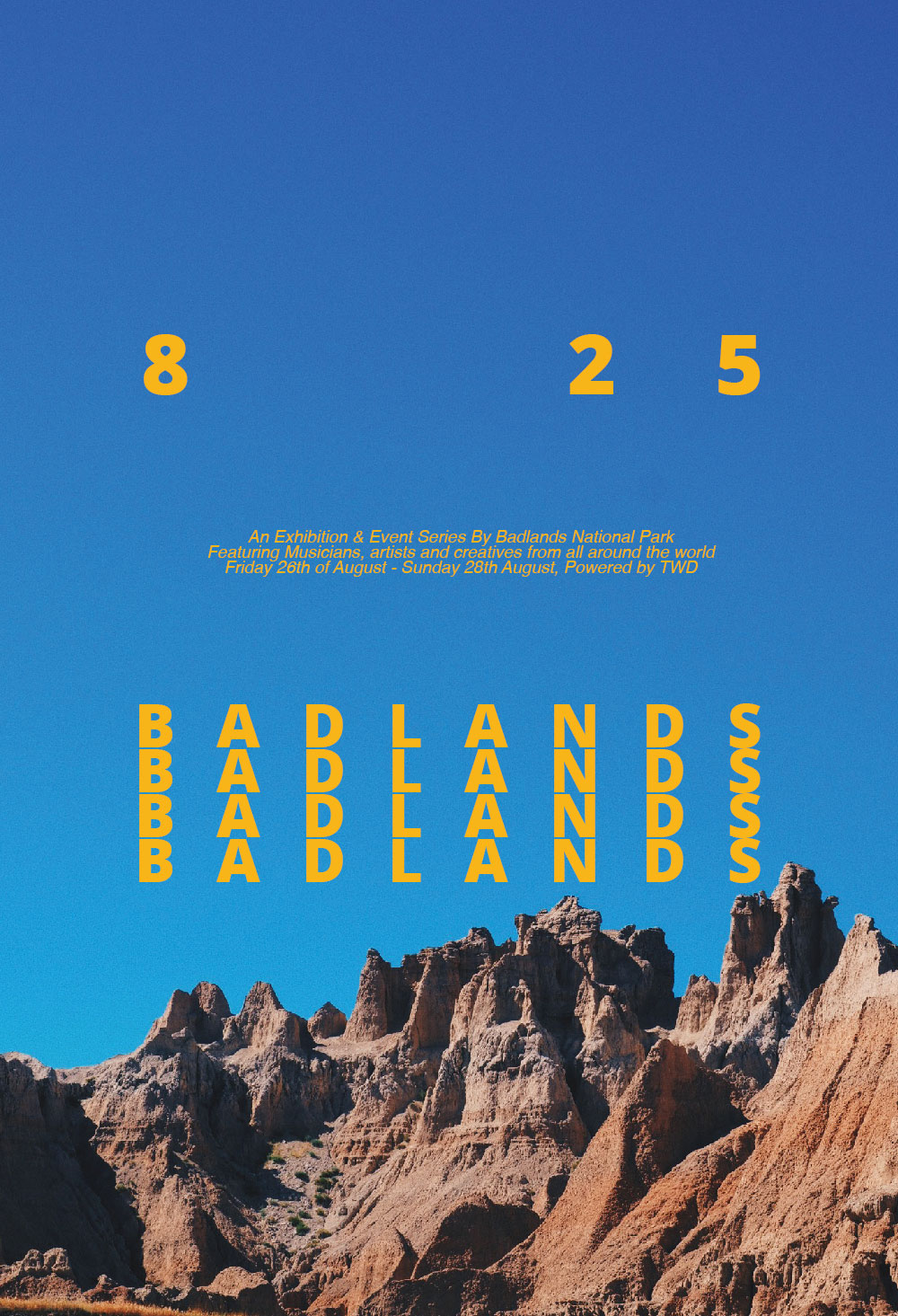 Badlands Mock Poster