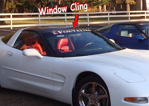 FOX VETTE WINDOW CLING LARGE OUTSIDE