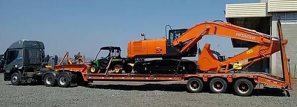 Transporte de Escavadeira Hidráulica