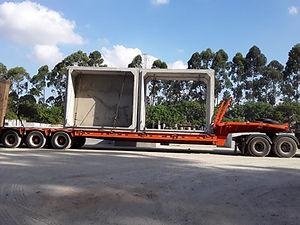 Transporte de Aduela de Concreto Armado