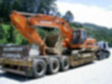 Transporte de Escavadeira
