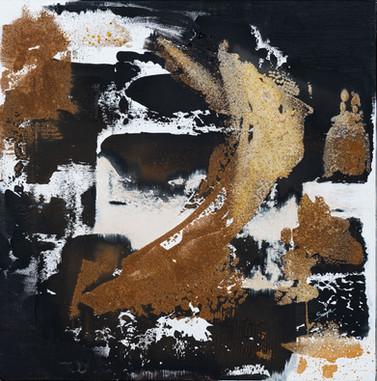 Sand tracks     I     Acrylique sur toile    I      60x60cm