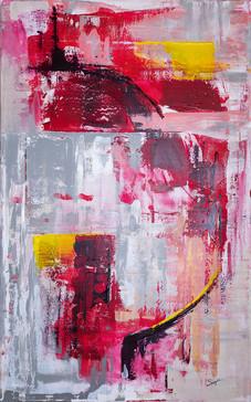 Happiness #2     I     Acrylique sur toile    I      73x116cm