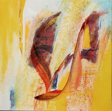 This Girl With Auburn Hair     I     Acrylique sur toile    I      50x50cm