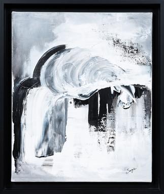 Permafrost     I     Acrylique sur toile    I      38x46cm + encadrement