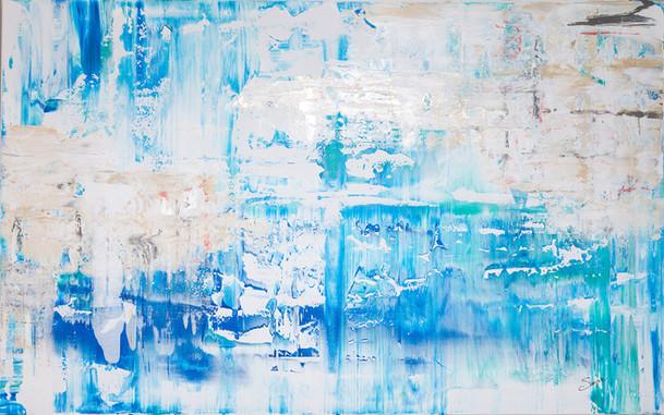 Les Calanques #2     I     Acrylique sur toile    I      73x116cm