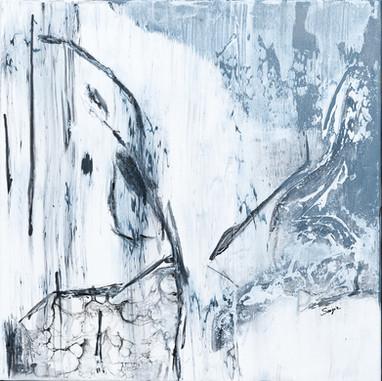 Shamanic Dance    I     Acrylique & Fusain sur toile     I     50x50cm