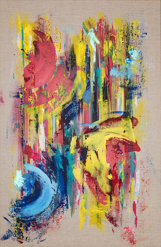 Canyon Cristales     I     Acrylique sur toile    I      100x65cm