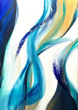 Flow     I     Acrylique sur toile    I      80x120cm