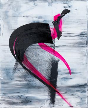 Down with masks     I     Acrylique sur toile    I      38x46cm