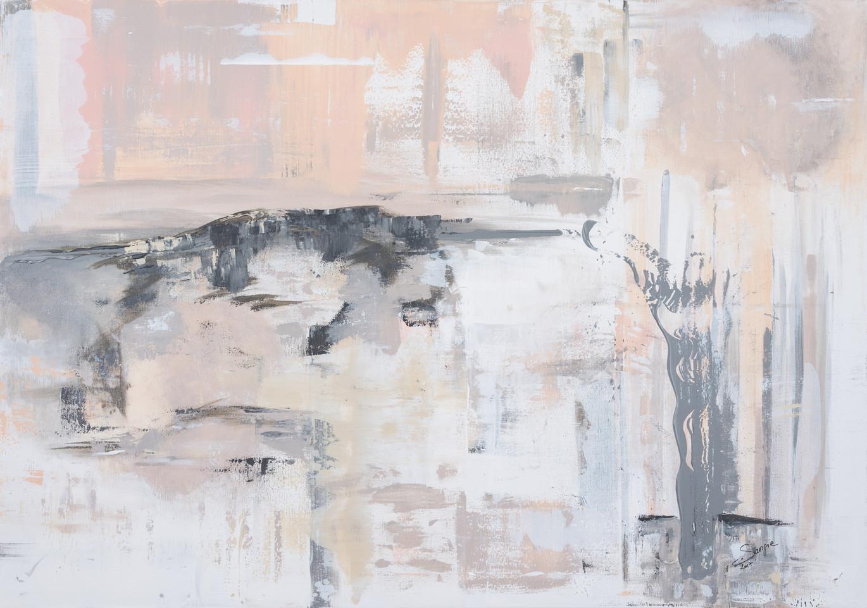 New Birth (Sainte Victoire)     I     Acrylique sur toile    I      81x116cm