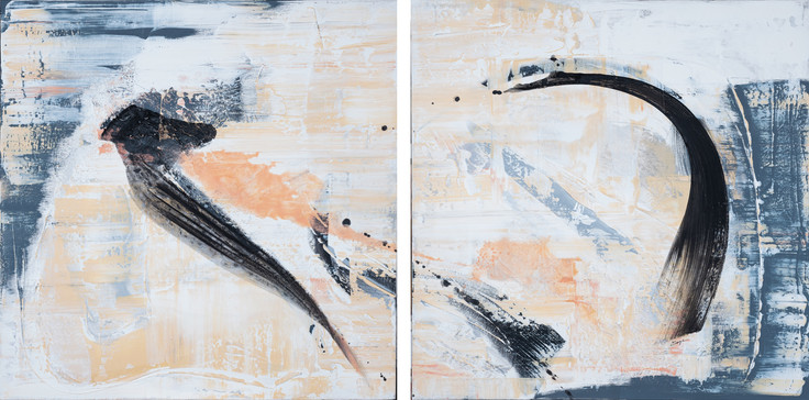 Trust your instinct     I     Diptyque, Acrylique sur toile    I      200x100cm