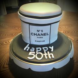 fondant 50th  cake