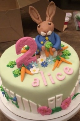 Peter Rabbit Fondant Cake