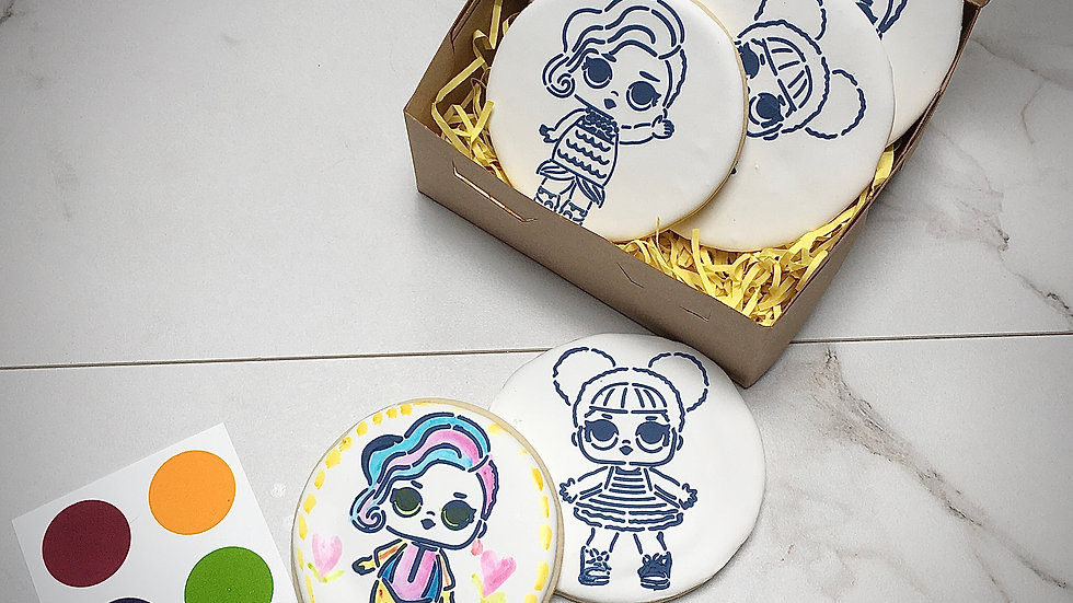 Paint Your Own Cookie Gift Set - LOL / OMG Dolls