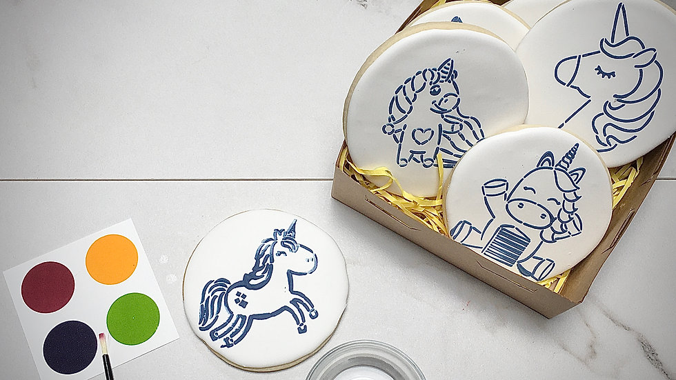 Paint Your Own Cookie Gift Set - Unicorns!