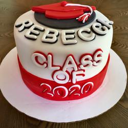 fondant 6 inch 3 layer grad cake with ca