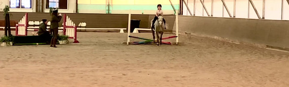 Babysitter Tia, helps kiddo with first jumps