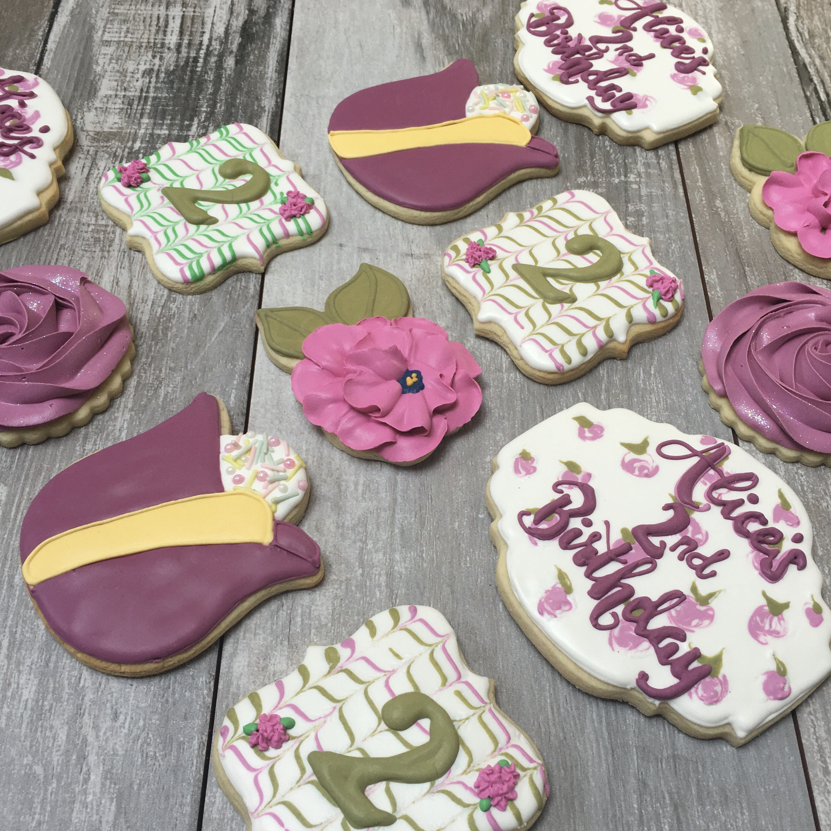 Baby girl birthday cookies