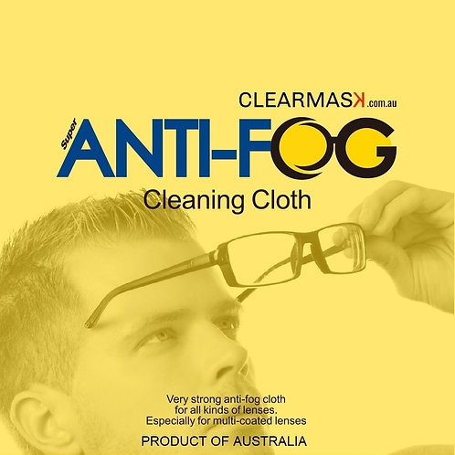2 x Box 50 Anti-Fog Cloths Reusable