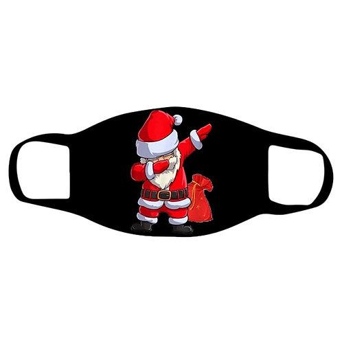Christmas Face Mask Black Reusable