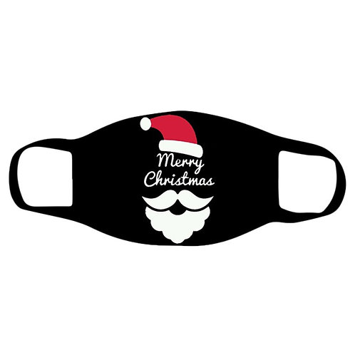Christmas Face Masks Black Reusable