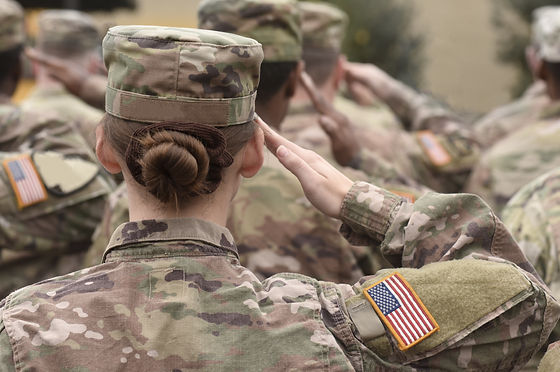 American Soldiers Salute. US Army. Milit
