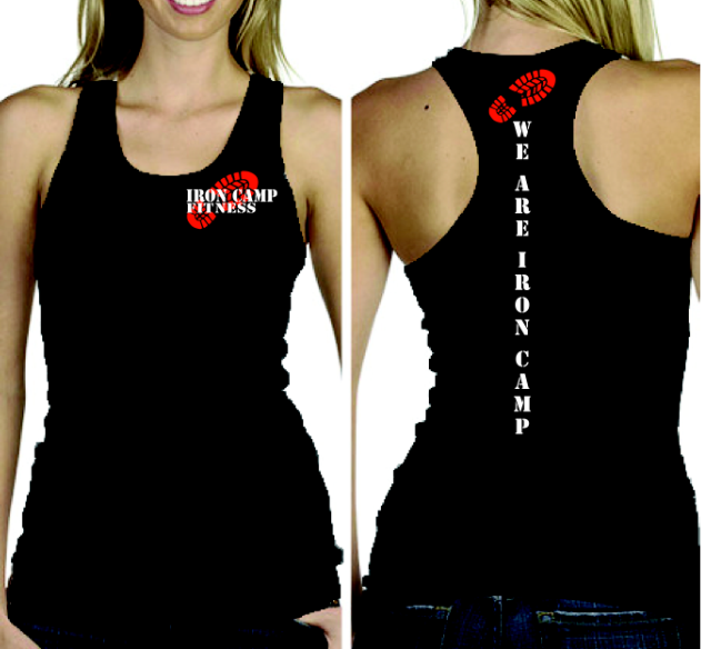 BLACK AND RED FEMALE TANKS
